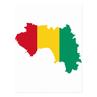 Guinea Flag Map GN Postcard