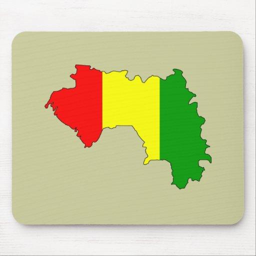 Guinea flag map mouse pad