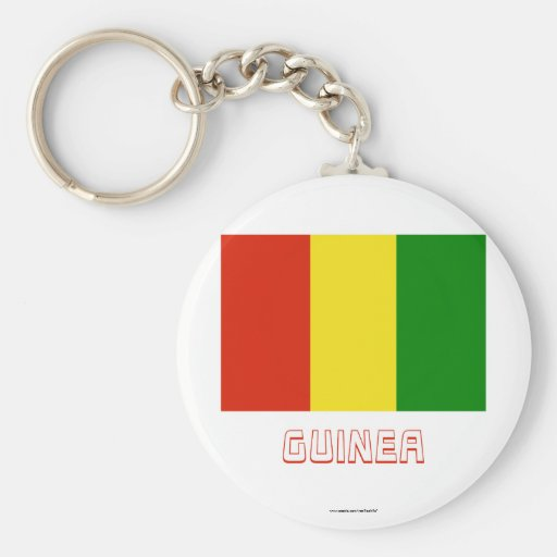Guinea Flag with Name Keychains