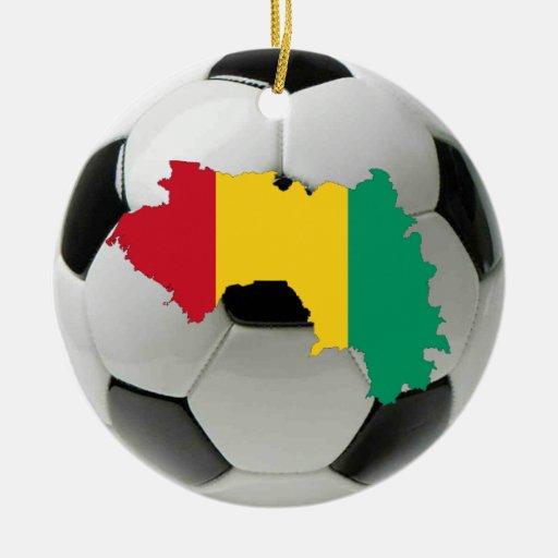 Guinea football soccer ornament
