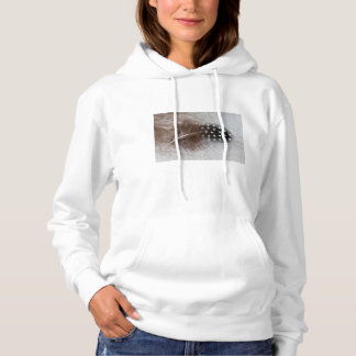 Guinea fowl and goose feather hoodie