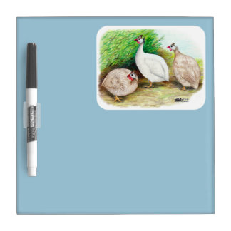 Guinea Fowl Outside Dry-Erase Board