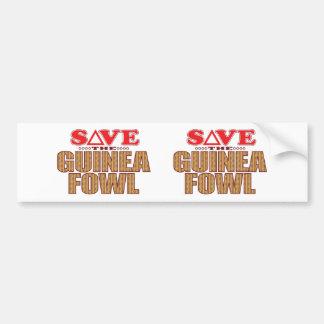 Guinea Fowl Save Bumper Sticker