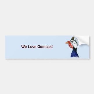 Guinea Head Car Bumper Sticker