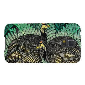 Guinea Hens kasamatsu shiro bird leaf japanese art Galaxy S5 Cases