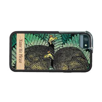 Guinea Hens kasamatsu shiro bird leaf japanese art iPhone 5 Cases