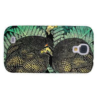 Guinea Hens kasamatsu shiro bird leaf japanese art Galaxy S4 Case