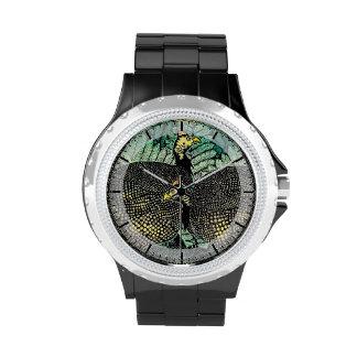 Guinea Hens kasamatsu shiro bird leaf japanese art Wristwatches