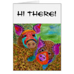 Guinea Hogs Greeting Card (You can Customize)