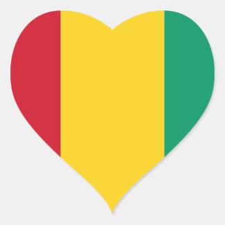 Guinea Pegatina En Forma De Corazón