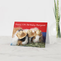 Guinea Pig 8th, 9th, 10th etc. Kid Birthday Card