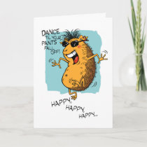 Guinea Pig Boogie Birthday Card