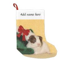 Guinea Pig bow Christmas Stocking