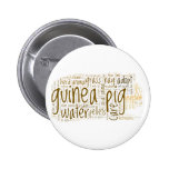 Guinea Pig Care Reminder Word Cloud Button