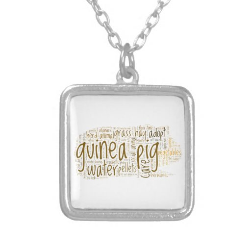 Guinea Pig Care Reminder Word Cloud Jewelry