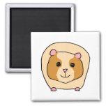 Guinea Pig Cartoon. 2 Inch Square Magnet