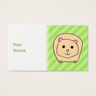 Guinea Pig, Cartoon Animal. Business Card