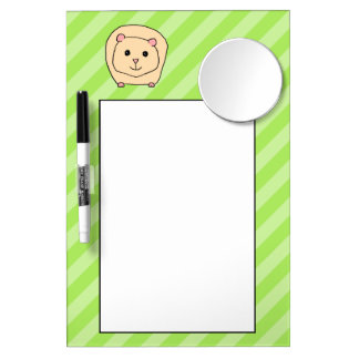 Guinea Pig, Cartoon Animal. Dry Erase Board With Mirror