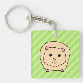 Guinea Pig, Cartoon Animal. Acrylic Key Chains