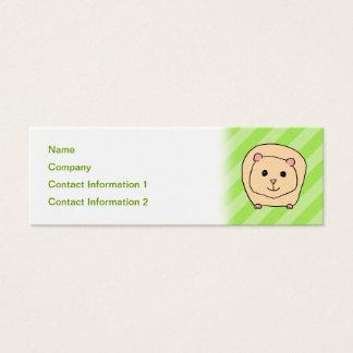 Guinea Pig, Cartoon Animal. Mini Business Card