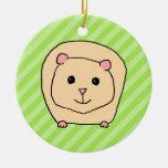 Guinea Pig, Cartoon Animal. Christmas Tree Ornament