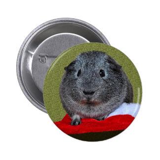 Guinea Pig Christmas Button
