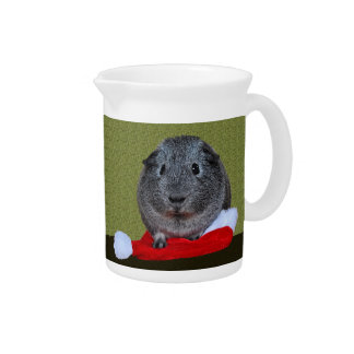 Guinea Pig Christmas Drink Pitcher