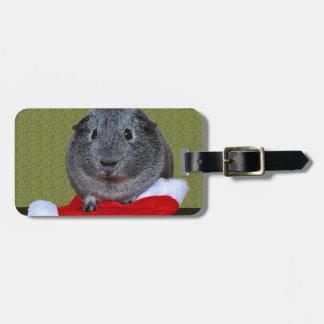 Guinea Pig Christmas Luggage Tag