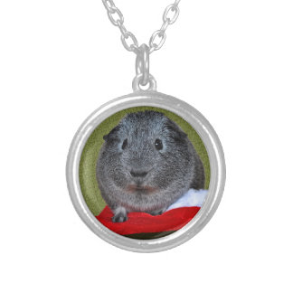 Guinea Pig Christmas Silver Plated Necklace