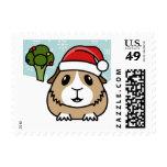 Guinea Pig Christmas USA Postage Stamps