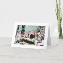 Guinea Pig Christmas Wonderland Holiday Card