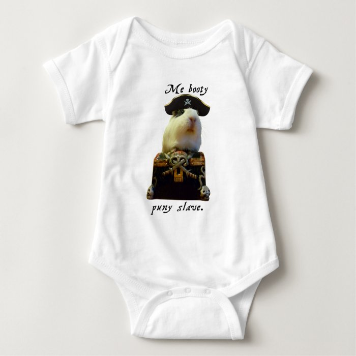 Guinea Pig Funny Pirate Baby Bodysuit