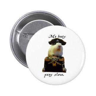 Guinea Pig Funny Pirate Pinback Button