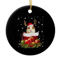 Guinea Pig Gift   Merry Christmas Guinea Pig Ceramic Ornament