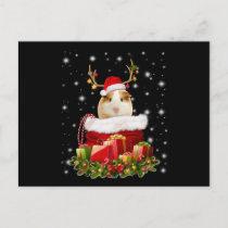 Guinea Pig Gift | Merry Christmas Guinea Pig Postcard