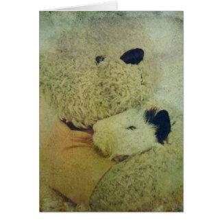 Guinea Pig Hug Birthday Greeting Card