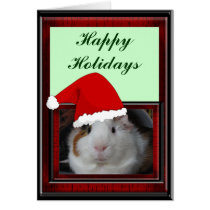 Guinea Pig in Santa Hat Card