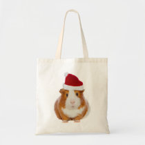 Guinea Pig in Santa's hat Tote Bag