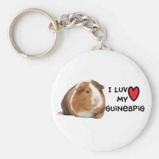 "Guinea Pig Keychain ""I love my Guinea Pig"""