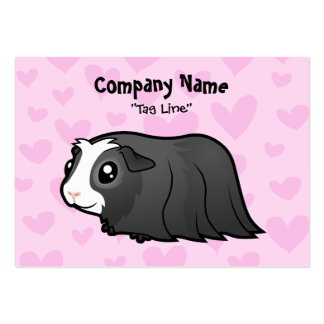 Guinea Pig Love (long hair) Large Business Cards (Pack Of 100)