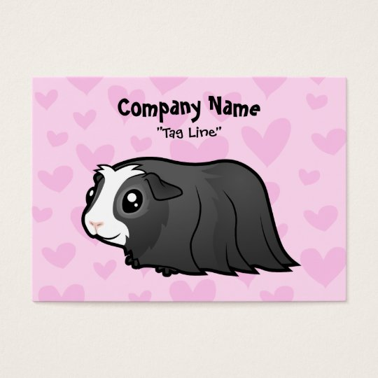 Guinea Pig Love (long hair) Business Card