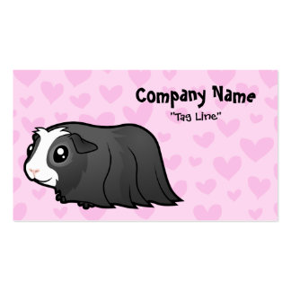 Guinea Pig Love (long hair) Double-Sided Standard Business Cards (Pack Of 100)