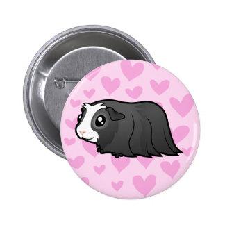 Guinea Pig Love (long hair) Button