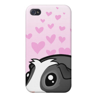Guinea Pig Love (long hair) Cover For iPhone 4