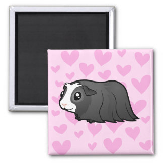 Guinea Pig Love (long hair) Magnets