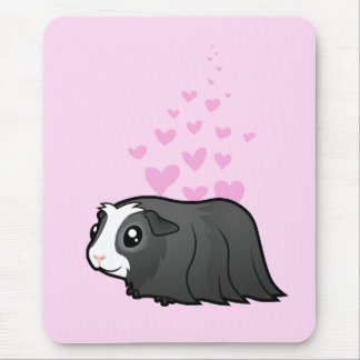 Guinea Pig Love (long hair) Mouse Pad