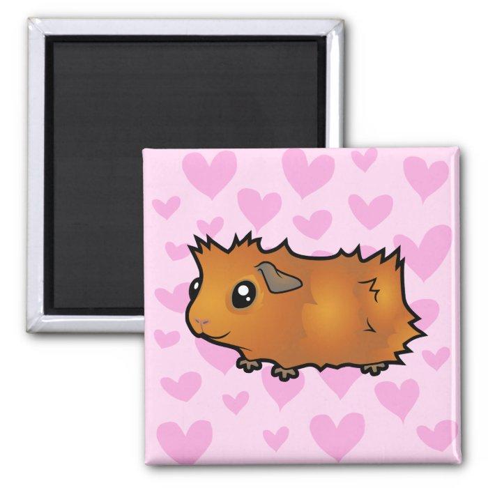 Guinea Pig Love (scruffy) 2 Inch Square Magnet