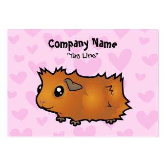 Guinea Pig Love (scruffy) Large Business Cards (Pack Of 100)