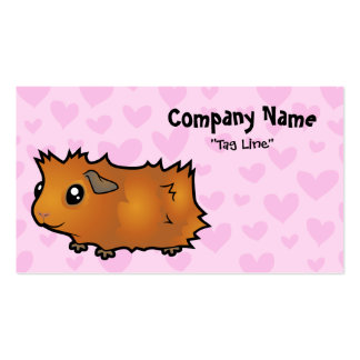 Guinea Pig Love (scruffy) Double-Sided Standard Business Cards (Pack Of 100)