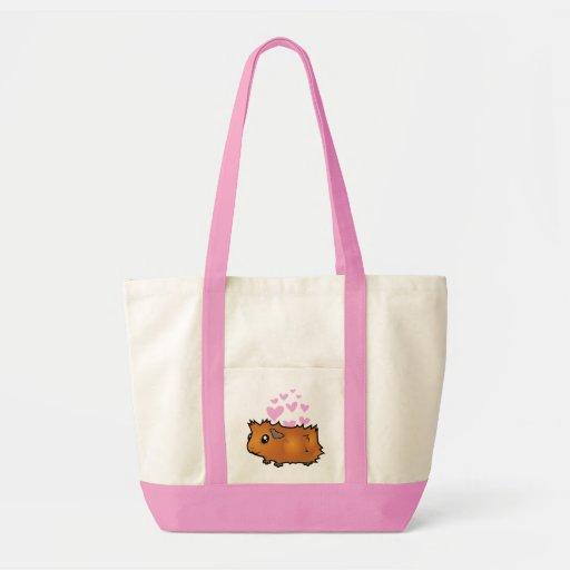 Guinea Pig Love (scruffy) Canvas Bags